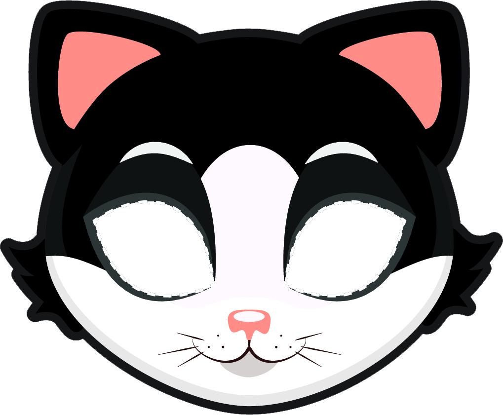 Maska kota szablon do druku za darmo