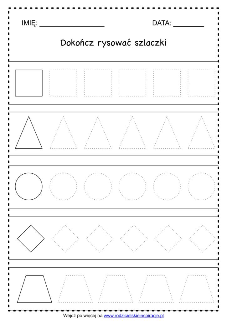 Szlaczki do druku za darmo - figury