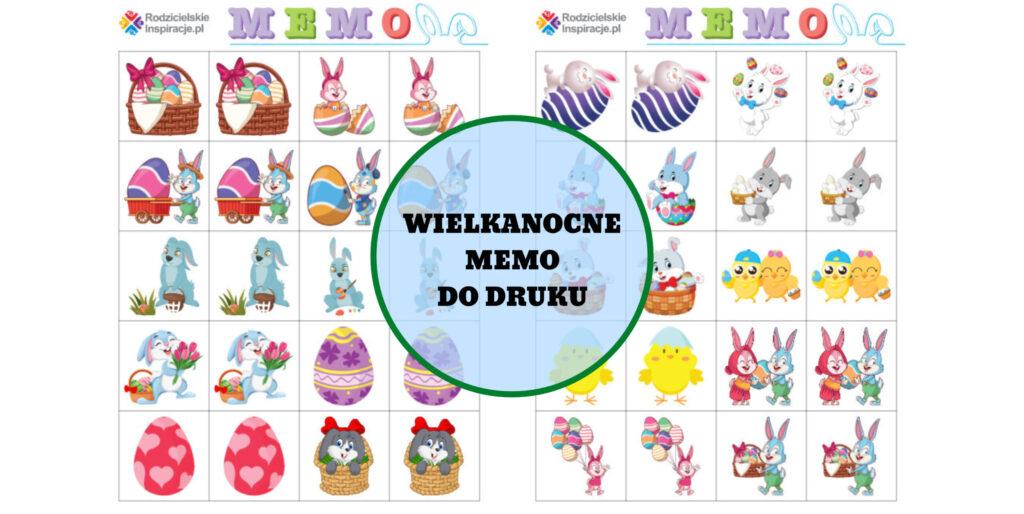 Wielkanocne Memo do druku - Gry dla dzieci