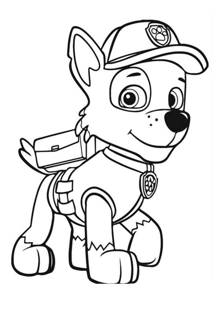 Kolorowanka Psi Patrol Rocky