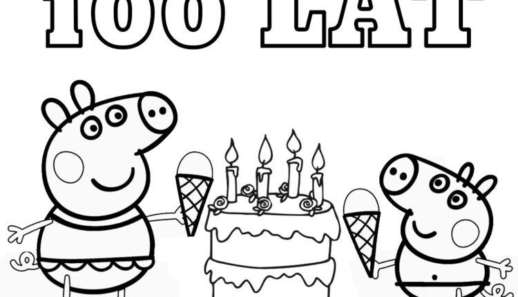 Urodzinowa kolorowanka Świnka Peppa