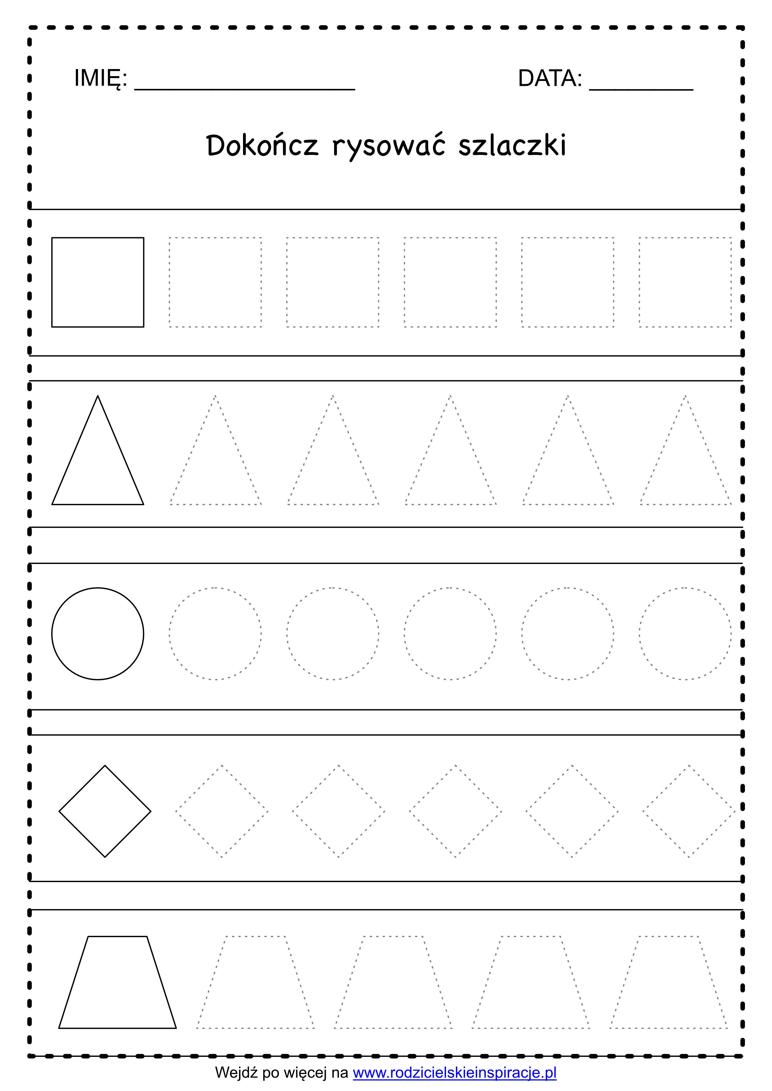 Szlaczki do druku za darmo – figury