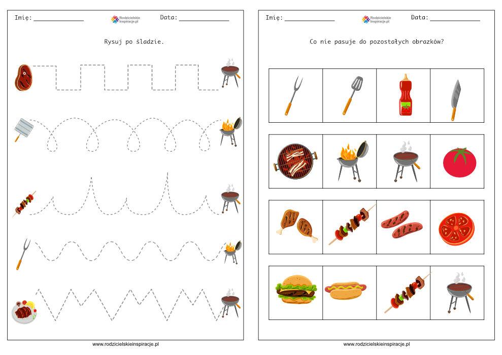 Karty pracy przedszkole - Grill