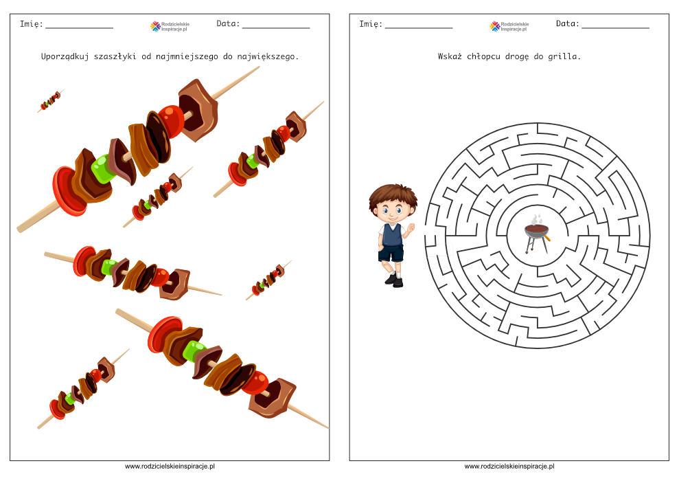 Karty pracy przedszkole – Grill