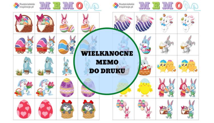 Wielkanocne Memo do druku – Gry dla dzieci