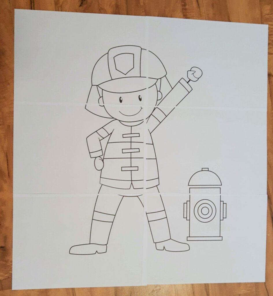 Kolorowanka XXL - strażak
