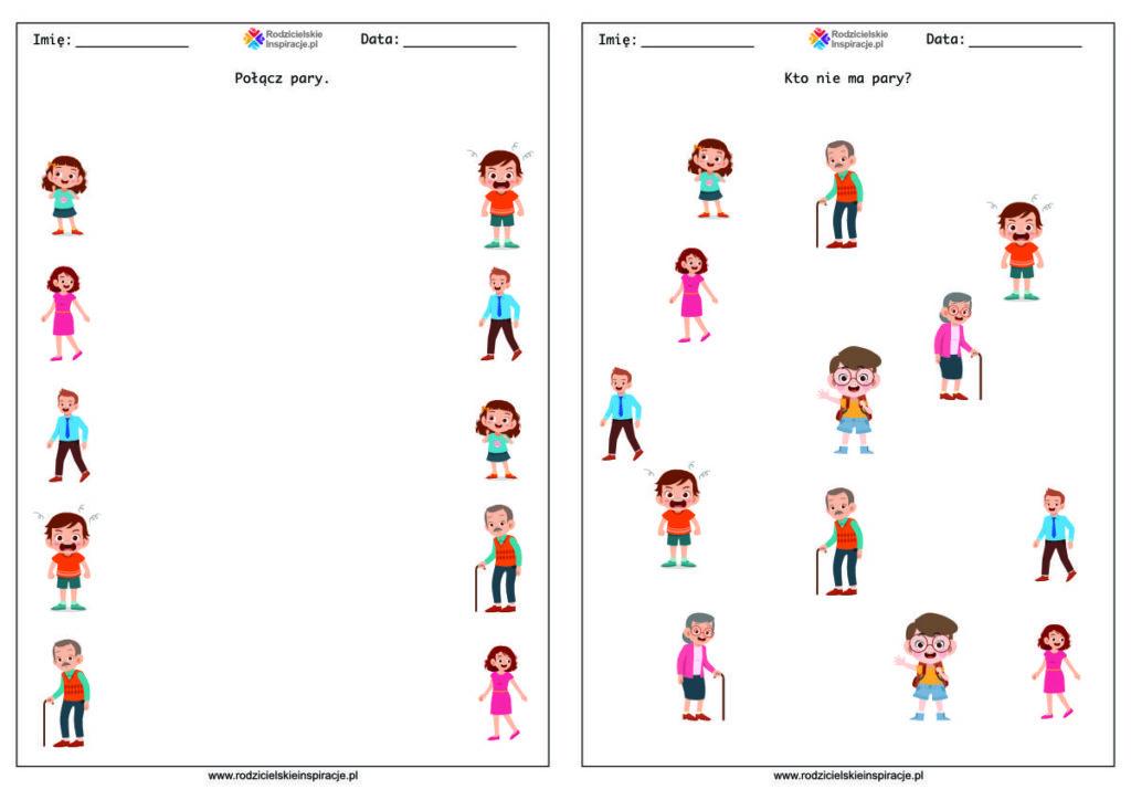 Rodzina karty pracy przedszkole