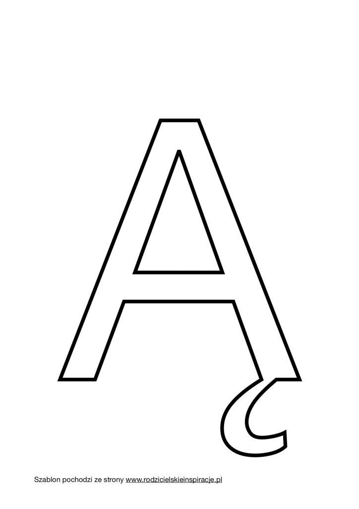 Litera Ą do druku