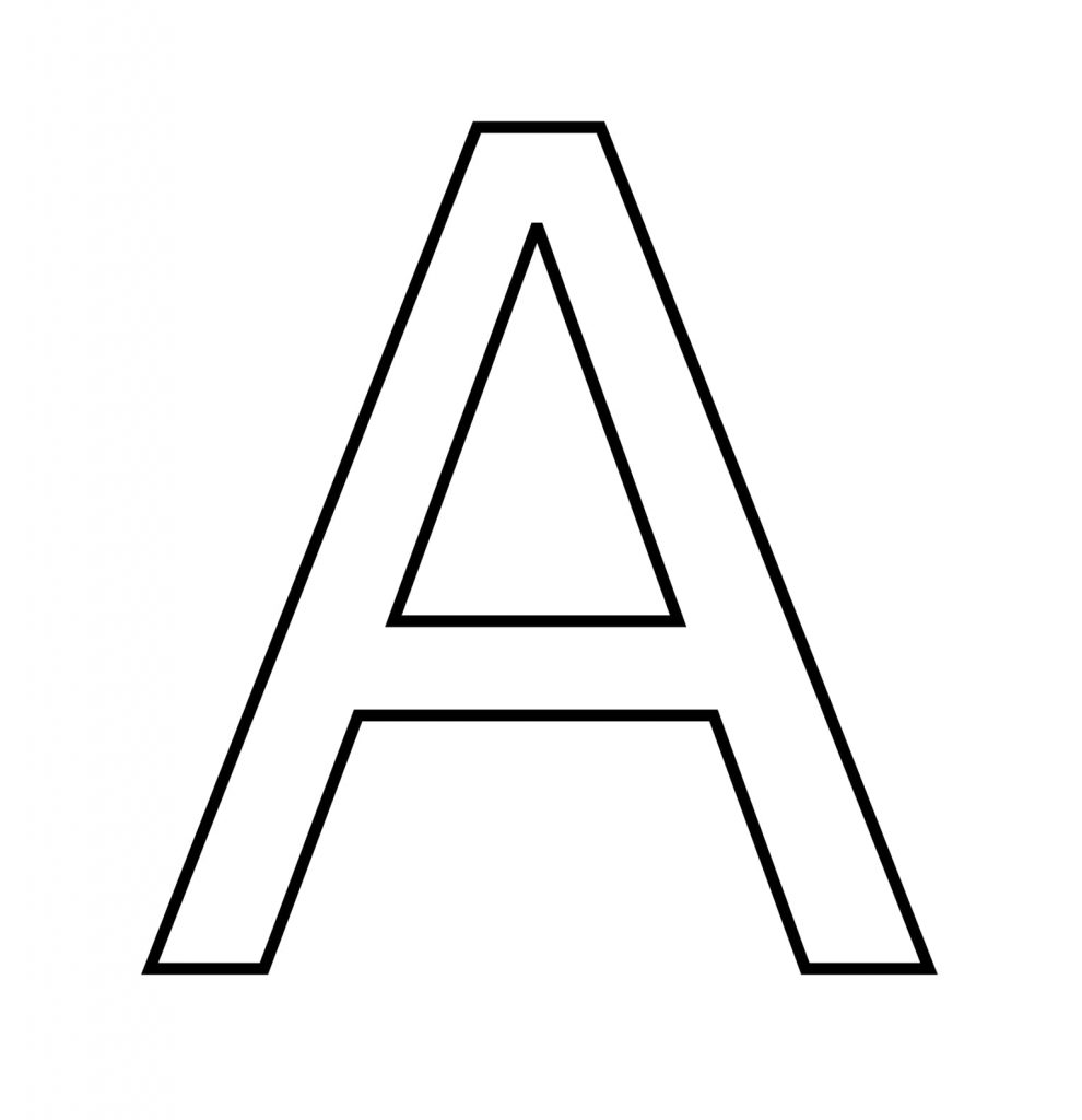Litera A do druku