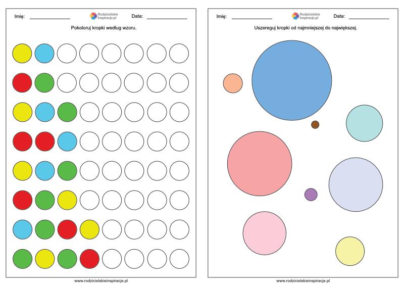 Dzień Kropki karty pracy przedszkole