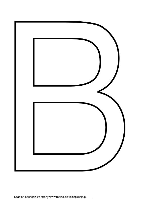 Litera B do druku PDF