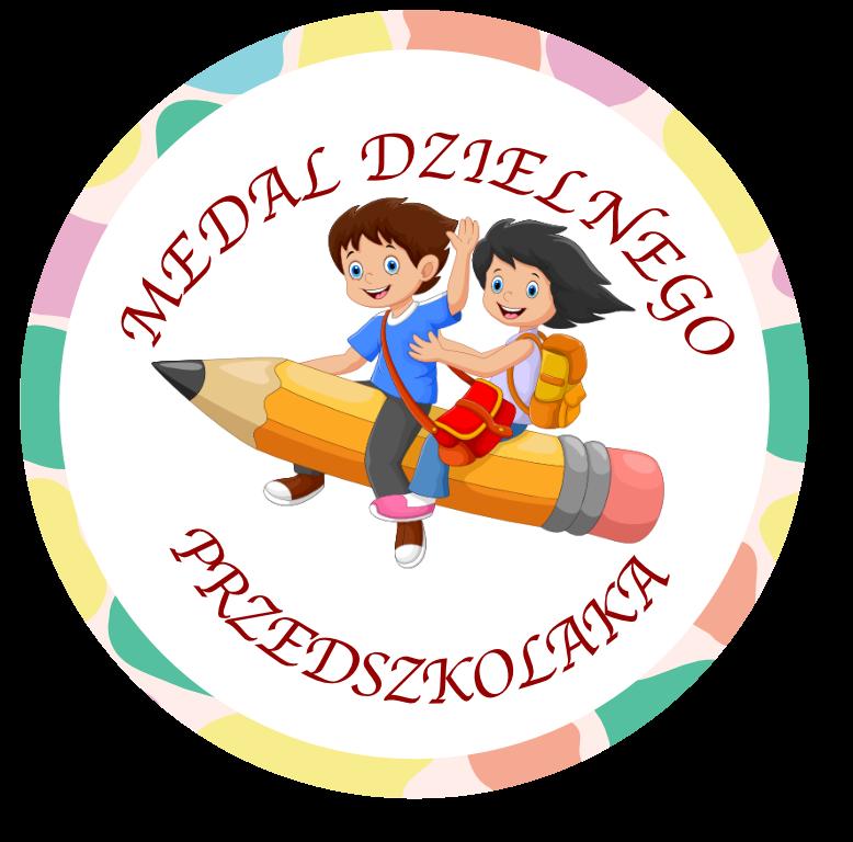 Medal dzielnego przedszkolaka do druku PDF