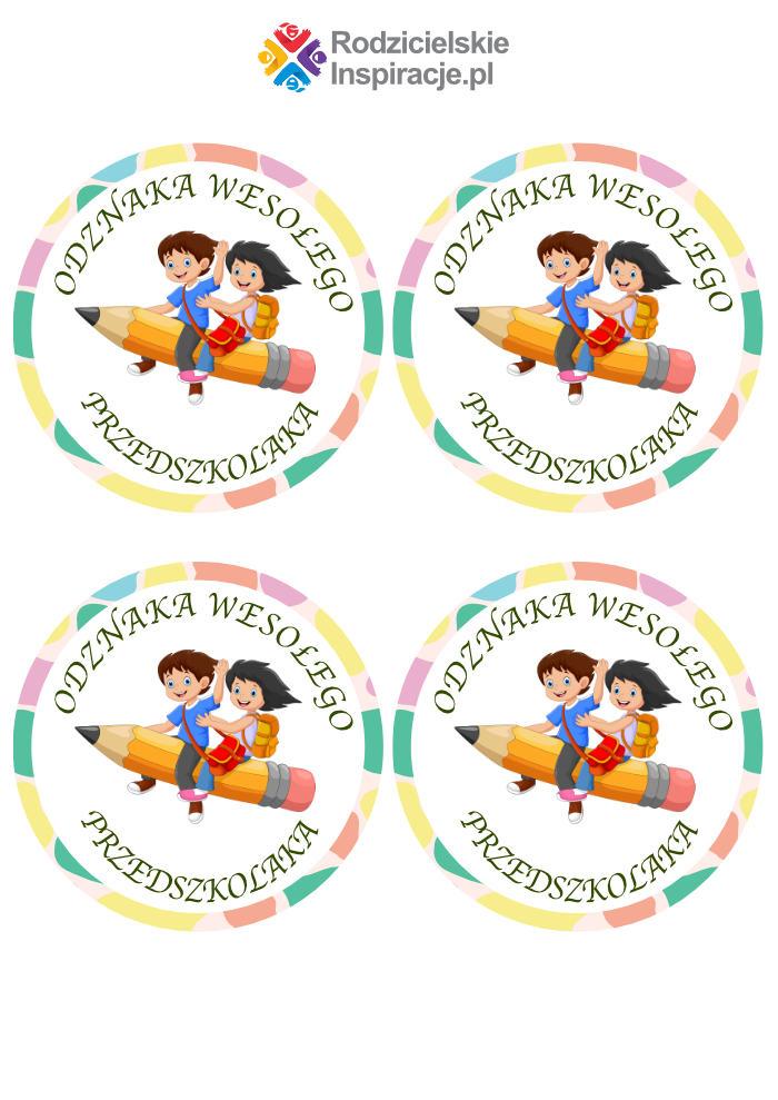 Odznaka Przedszkolaka PDF do druku