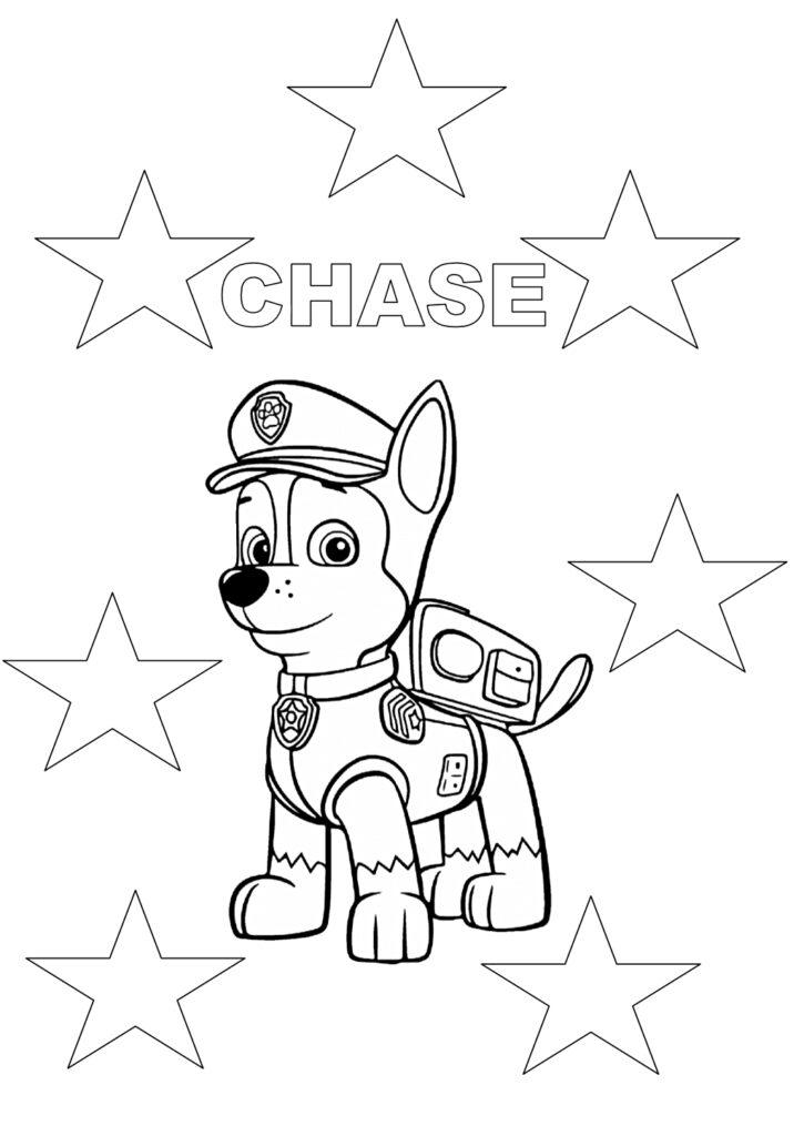 Chase kolorowanka Psi Patrol do druku