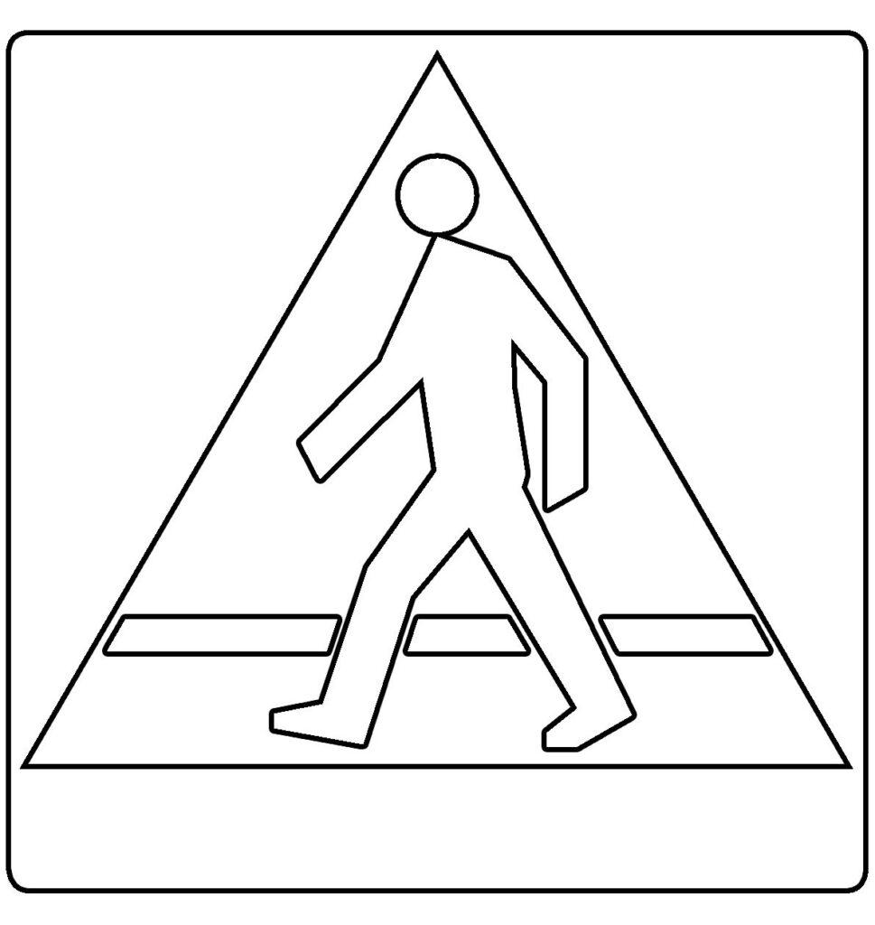 Przejście dla pieszych znak drogowy