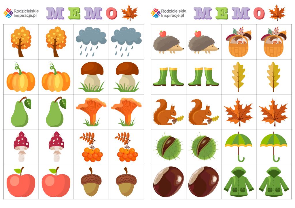 Memory do druku - jesień