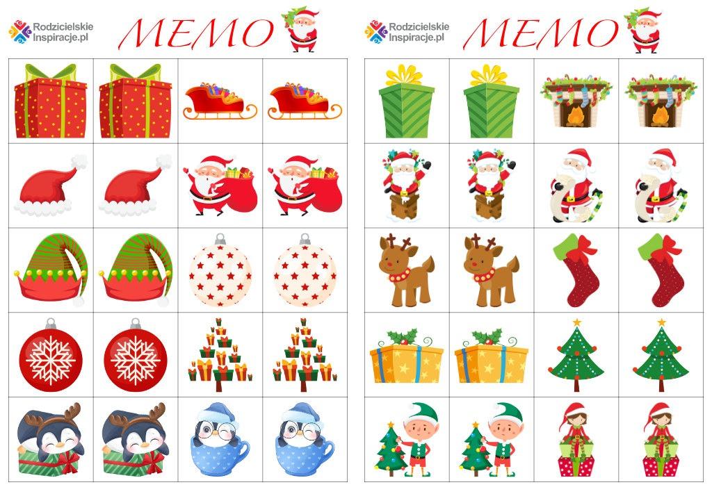 Gra Memory na Boże Narodzenie