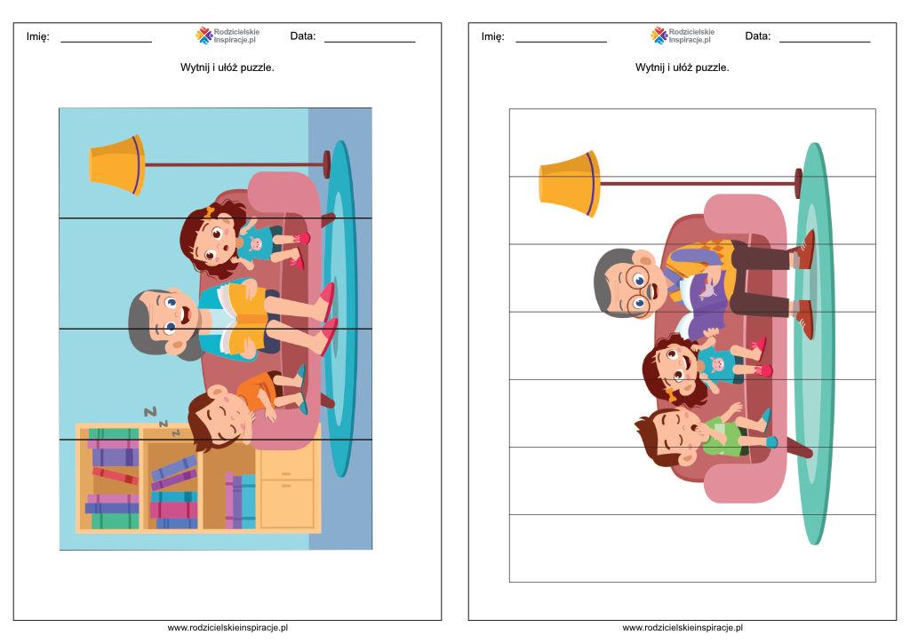 Dzień Babci i Dziadka karty pracy przedszkole