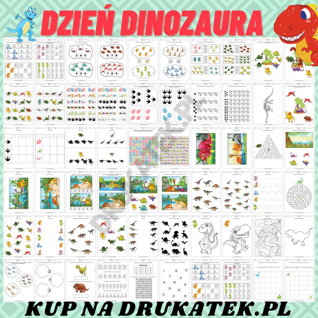Karty pracy dinozaury