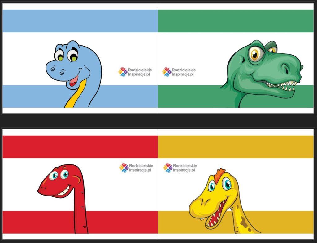 Dinozaury opaski z papieru do druku
