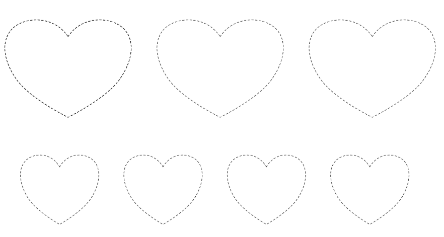 Serce szlaczki do druku