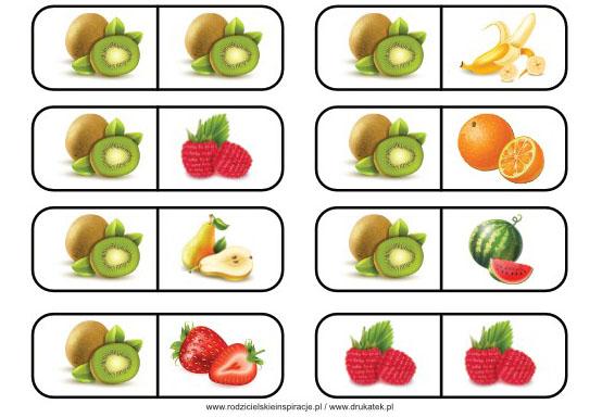 Owoce domino do druku