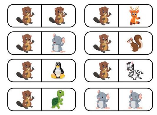 Domino Zwierzęta do druku