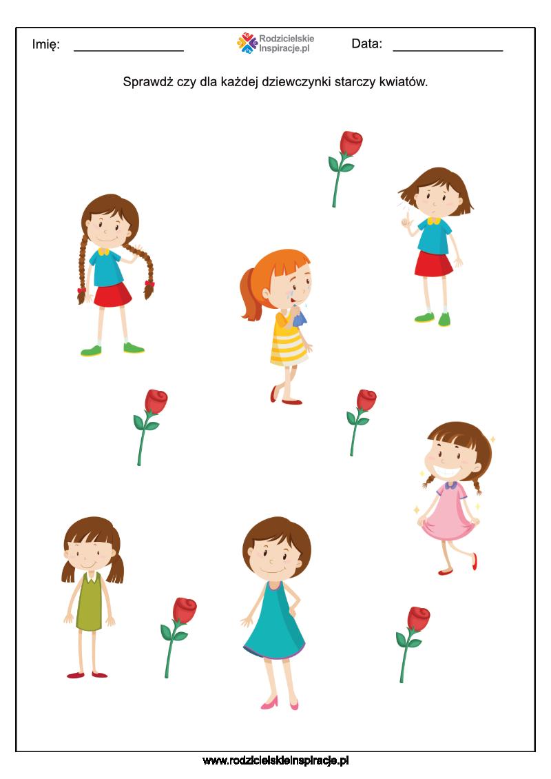 Dzień Kobiet karty pracy (przedszkole)