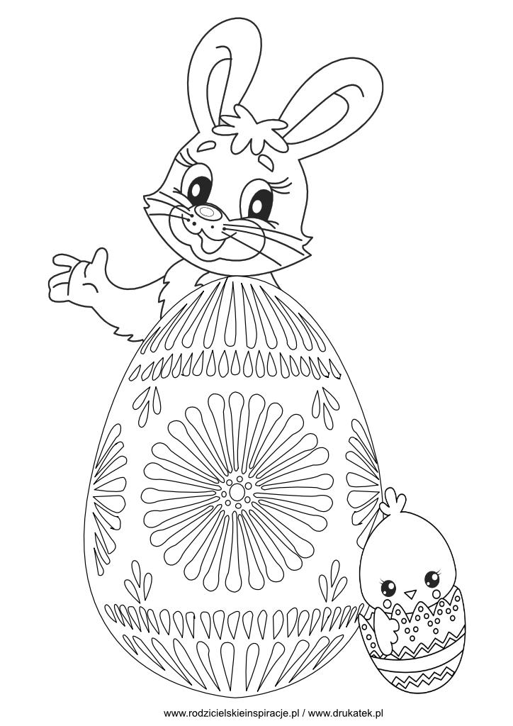 Zając i jajko wielkanocne