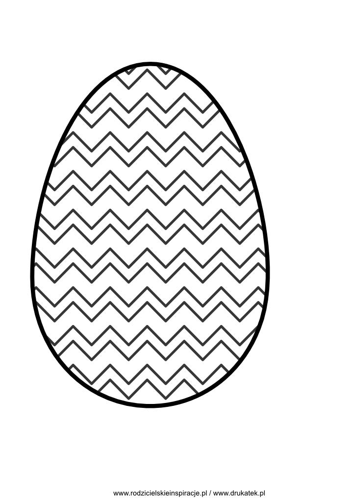 Jajko wielkanocne szablon do druku