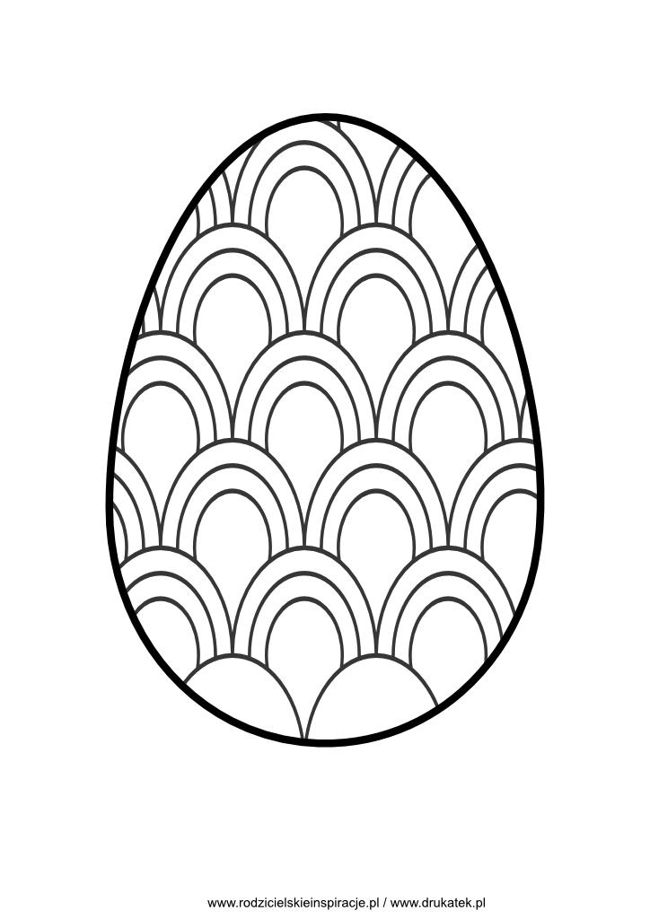 Jajko wielkanocne szablon