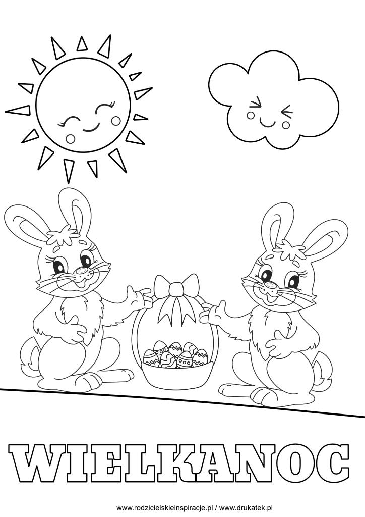 Wielkanocne kolorowanki