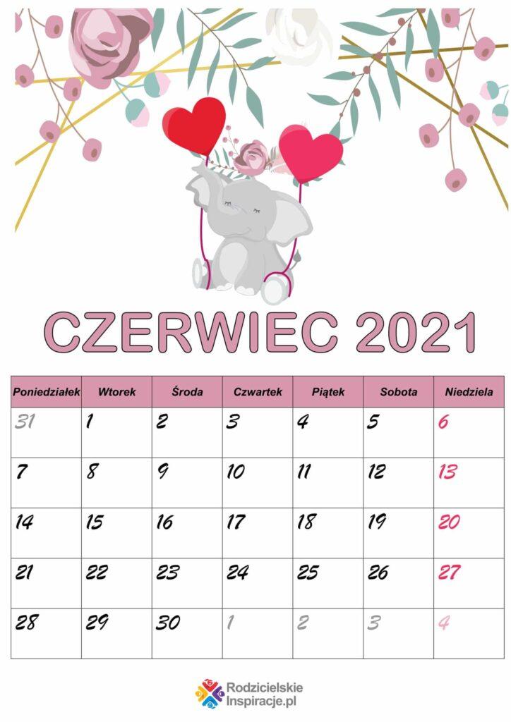 Kalendarz czerwiec 2021 PDF