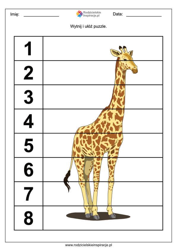 Puzzle dla dzieci do druku