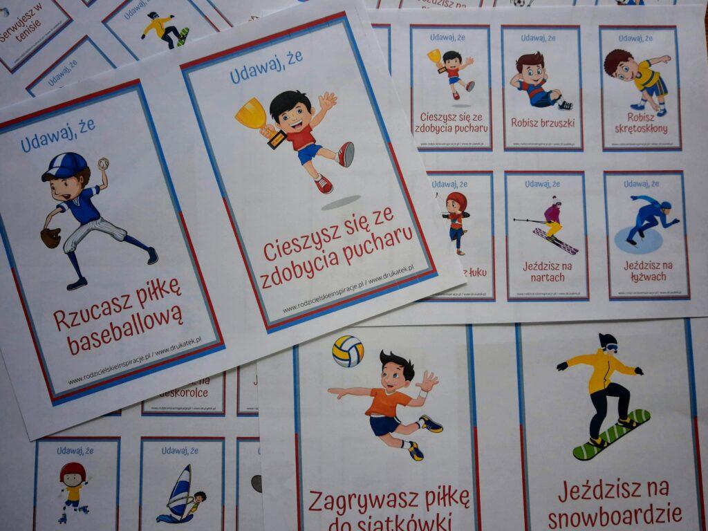 Karty ruchowe sport