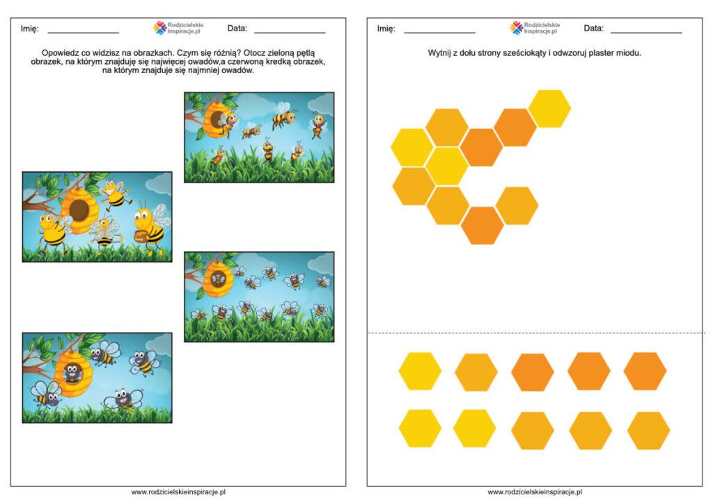 Karty pracy na Dzień Pszczoły w przedszkolu