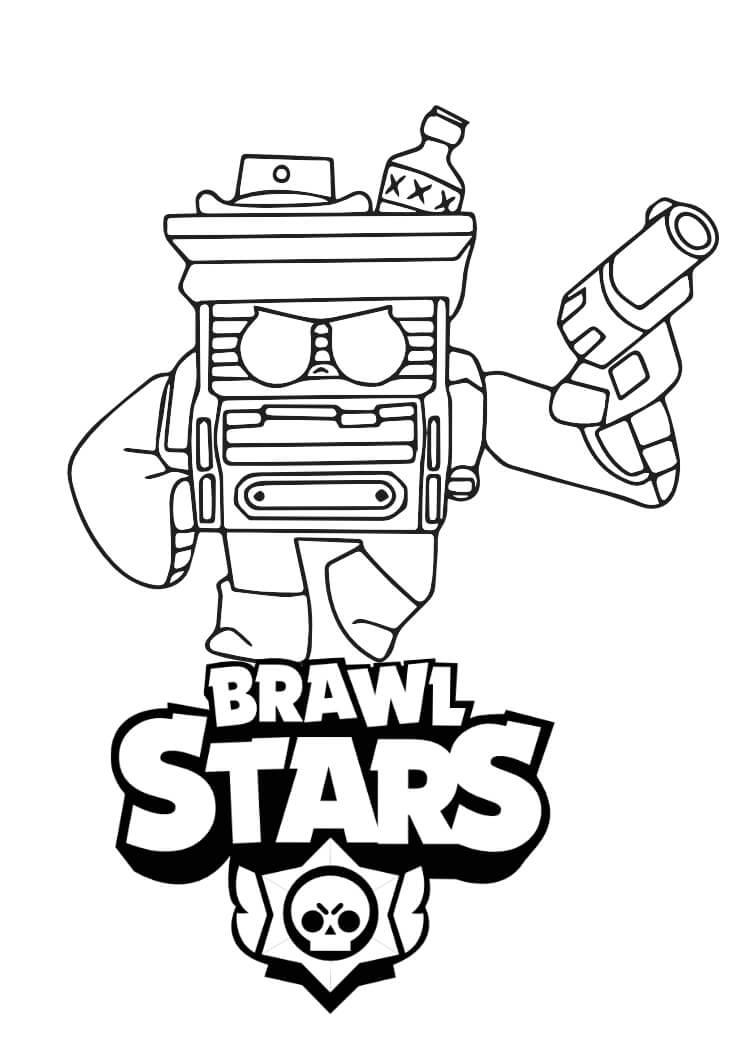 bitowiec kolorowanka brawl stars