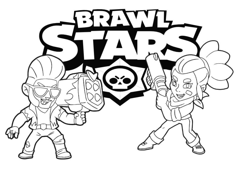 brawl star kolorowanka