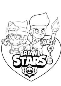 brawl stars kolorowanka do druku