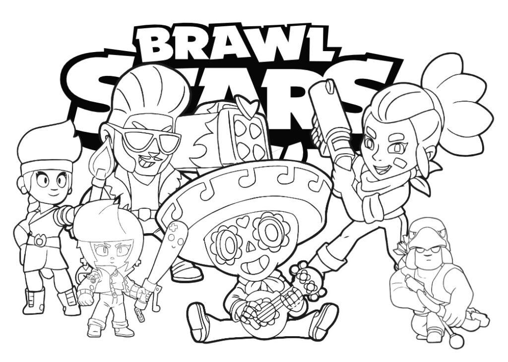 brawl stars kolorowanki do druku