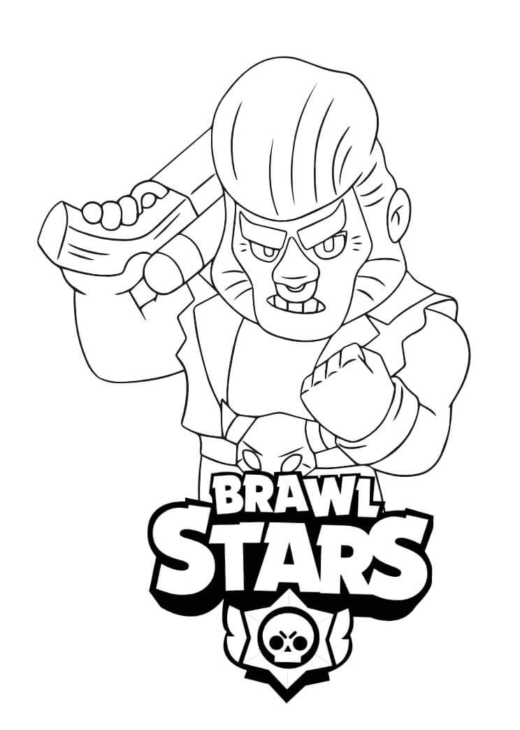 bull brawl star kolorowanka