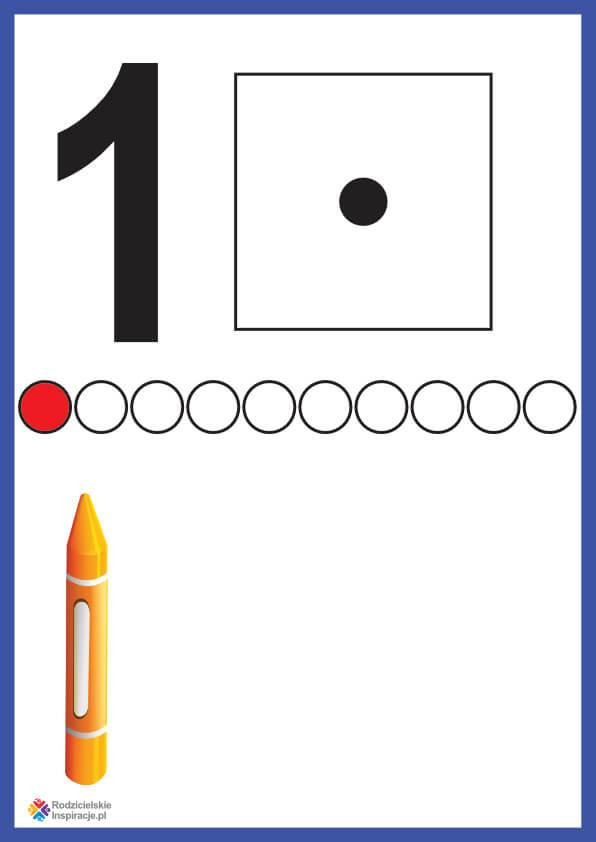 Cyfra 1 karta pokazowa do druku