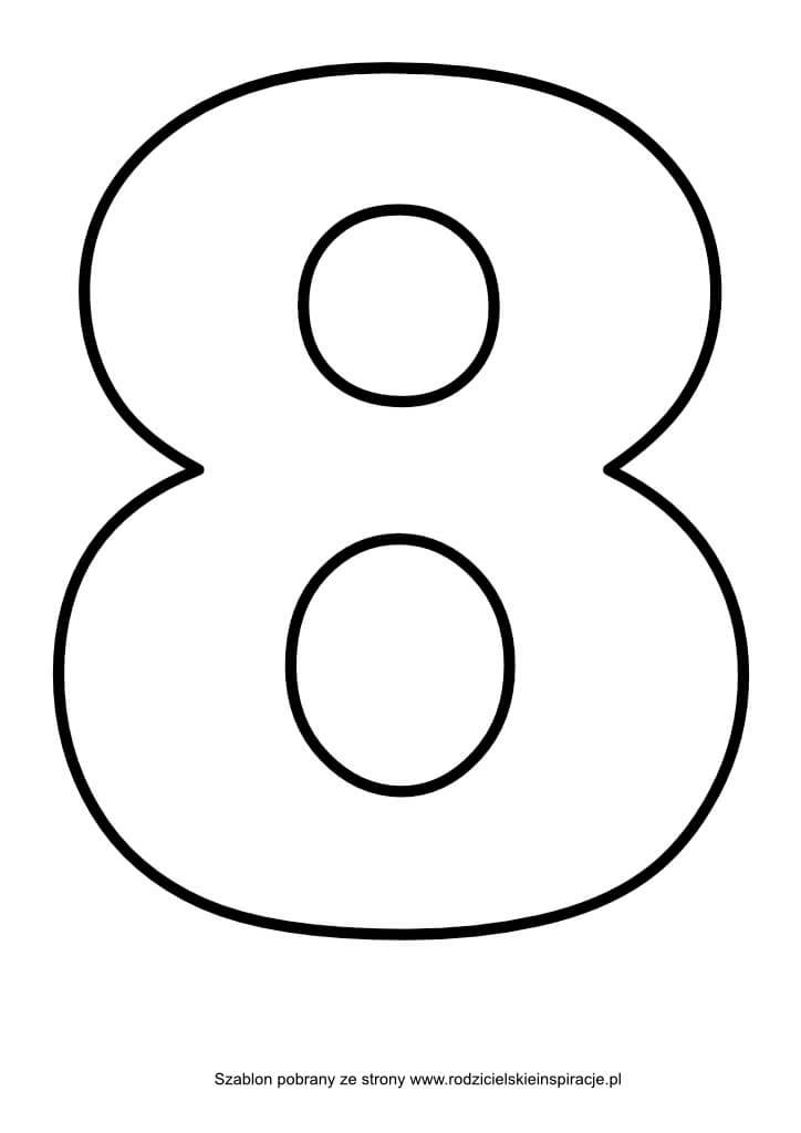 Cyfra 8 do druku