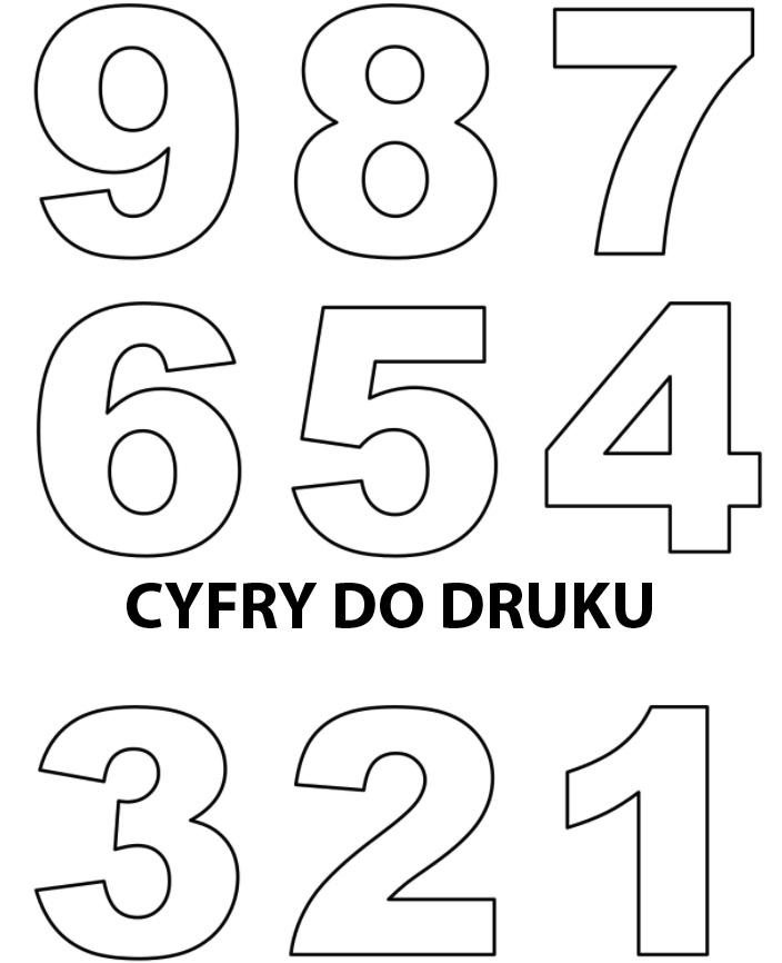 cyfry do druku