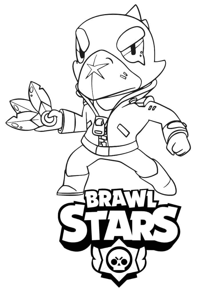 kruk brawl stars kolorowanki