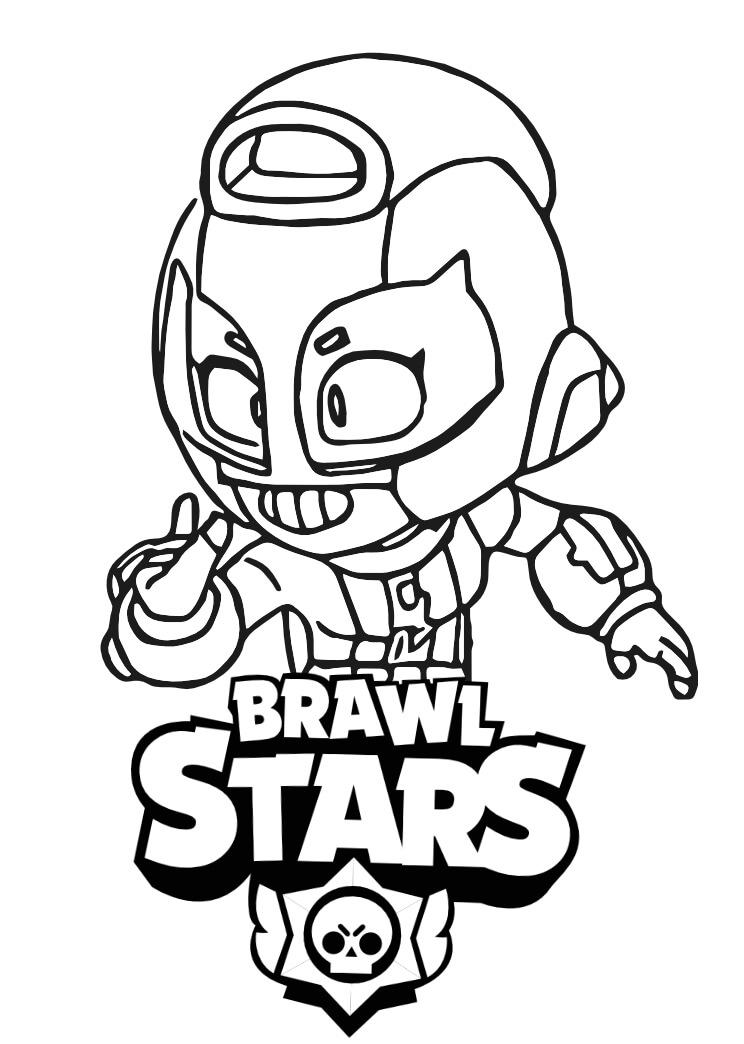 max brawl stars kolorowanka