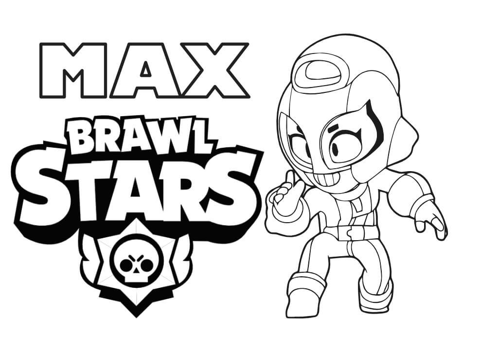 max kolorowanka brawl stars