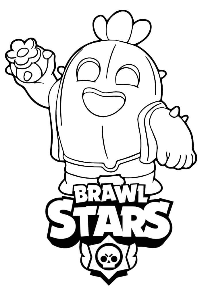 spike kolorowanki brawl stars