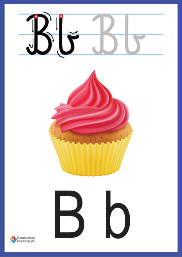 litera b pokazowe do druku