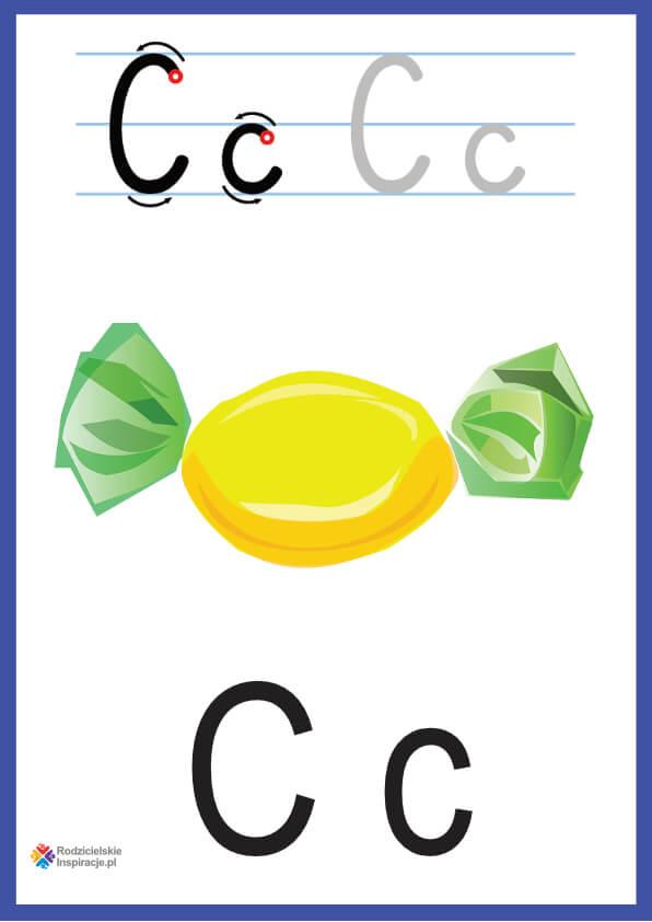 litera c pokazowe do druku